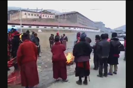 Rare footage shows extreme measures of Tibetan protesters